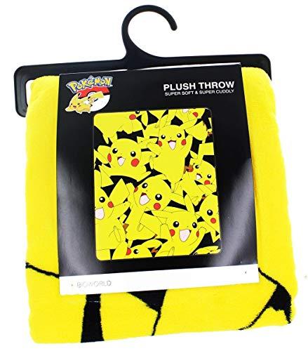 Fleece Throw Make Blankets - bioWorld Pokémon Pikachu All Over Print Fleece Throw Blanket, 48