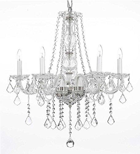 Swarovski Crystal Trimmed Chandelier! Crystal Chandelier Chandeliers Lighting H25″ X W24″