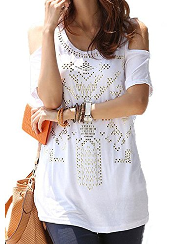 Womens Summer Sequin Shoulder Casual product image