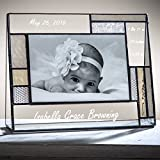 J Devlin Pic 392-46H EP530 Personalized Baby Frame Engraved Glass Photo Frame Keepsake Gift 4x6 Horizontal
