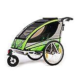 Qeridoo Q3000A-Grün Sportrex 1 Kinder-Fahrradanhänger (1 Kind) - grün