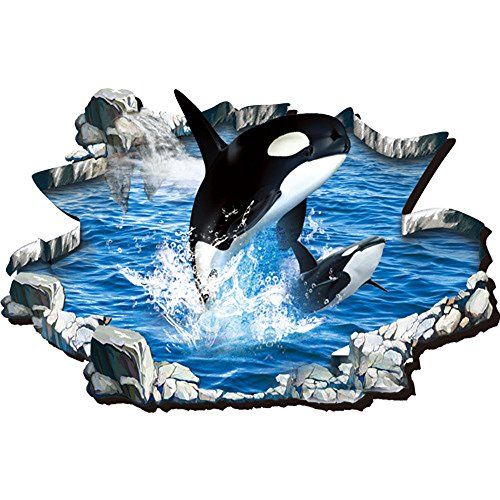 (Flying Fish Creative 3D Dolphin Undersea World Wall Kid Room Decor and Removable Mural Decals (Dolphins))