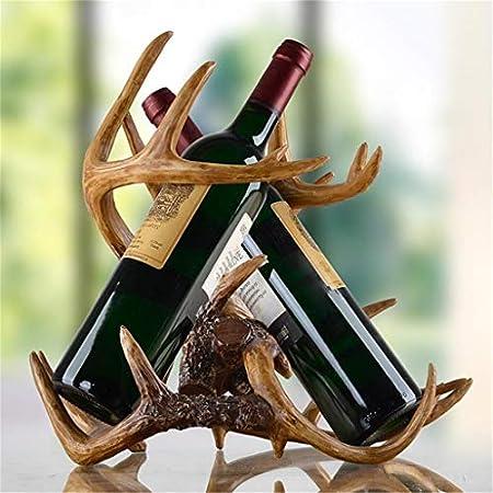Aiglen Escultura Soporte para Vino Adorno Decorativo para barware Arte y artesanía Accesorios presentes