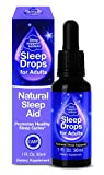 SleepDrops for Adults - Award Winning Sleep Aid For Going To Sleep Faster, Turn Off a Busy Mind, Natural, Herbal, Non-Habit Forming, Bioavailable (1 Ounce)