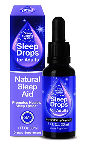 SleepDrops for Adults - Award Winning Sleep Aid For Going To Sleep Faster, Turn Off a Busy Mind, Natural, Herbal, Non-Habit Forming, Bioavailable (1 Ounce) by Sleep Drops
