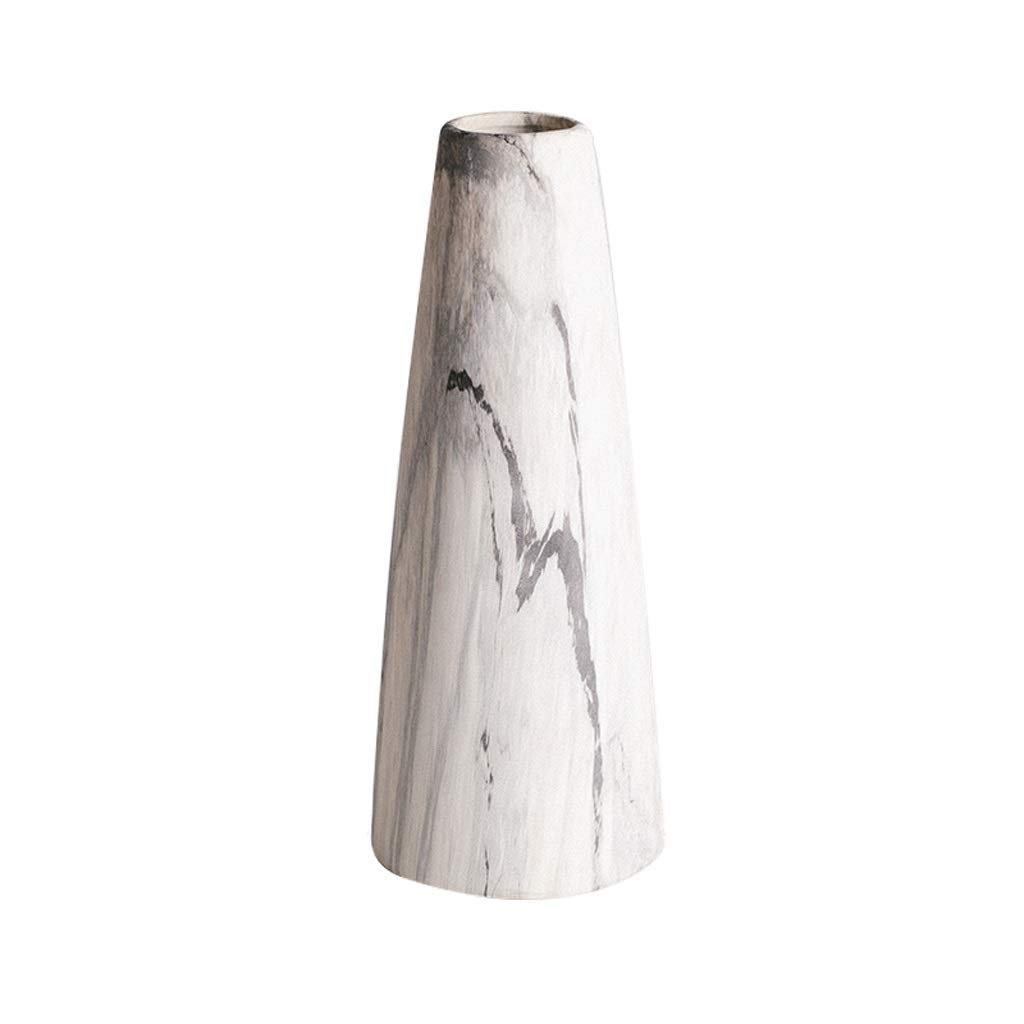 シックな花瓶 大理石の花瓶AXZHYZ190531006ドライフラワー装飾コーンファイン口フラワーライフ花瓶27×11センチ 写真シックな花瓶シリンダー花瓶、装飾用花瓶 B07SJLL1KC