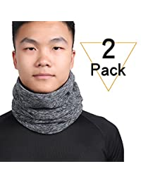 Qinglonglin Neck Gaiter Warm Neck Cover for Winter Double-Layer Fleece Ski Face Mask