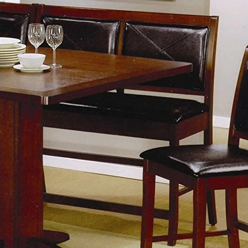 Lancaster Counter Height Bench in Dark Brown  101793