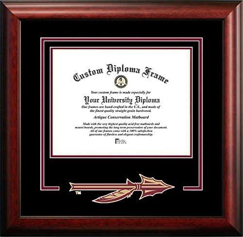 Florida State Seminoles大学 – カレッジロゴ – Spiritマットカットアウト – 卒業証書フレーム  Diploma Size - Up To 14 x 17