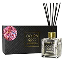 Oojra Japanese Cherry Blossom Essential Oil Reed Diffuser Gift Set, Glass Bottle, Reed Sticks, Natural Scented Long Lasting Fragrance Oil (3+ Months 5 oz) for Aromatherapy and Air Freshener (Japanese Cherry Blossom)
