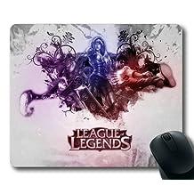 Customizablestyle League of Legends Splash Mousepad, Customized Rectangle DIY Mouse Pad