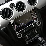 Center Console Multimedia control panel Frame Cover Decoration Ring Trim for Ford Mustang 2015-2017