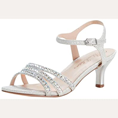 Amazon.com | Strappy Low Heel Sandal with Crystals Style BERK170 ...
