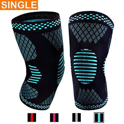 Venture Pal Knee Compression Non-Slip Sleeve – Best Knee Brace Support for Running,Hiking,Basketball,Gym – Perfect Treatment for Joint Pain Relief,Meniscus Tear,Arthritis and Injury Recovery(Single)