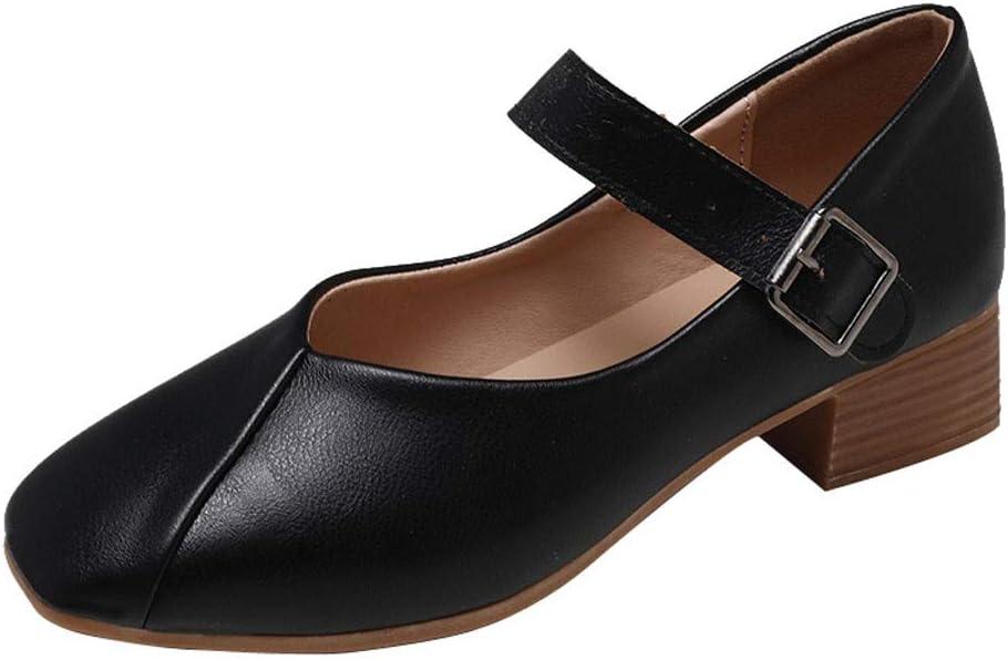 AG&T Correa de Tobillo para Mujer con Sandalias de tacón bajo, Zapatos Casuales, Hebilla de Primavera y Verano, cuña cómoda con Zapatos Individuales.: Amazon.es: Deportes y aire libre