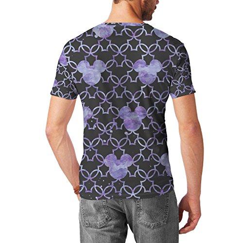 Mickey Mouse Watercolor Lilac Purple Mens Sport Mesh T-Shirt Herren XS - 3XL