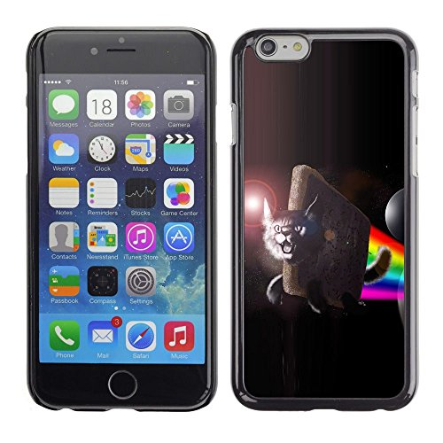 GooooStore/Housse Etui Cas Coque - Lynx Flying Space Cat Rainbow Art Moon - Apple iPhone 6