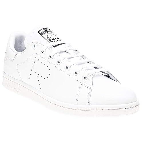 best service 4eb6d 7d027 Sneaker Adidas By RAF Simons Stan Smith in Pelle Bianca, Taglia UK  11