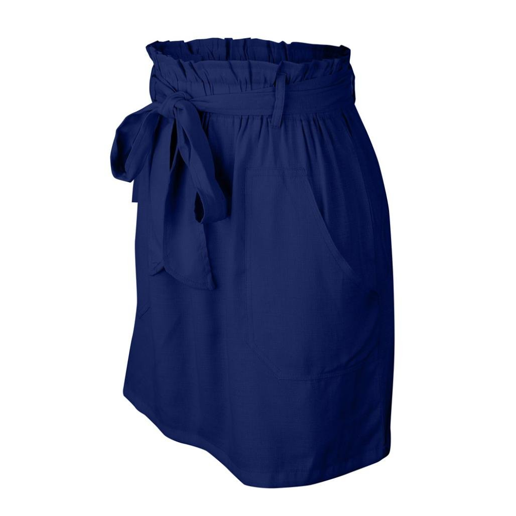 Spbamboo Clearance Sale! Womens Casaul Pocket Pure Color High Waist Summer Skirt by Spbamboo (Image #7)