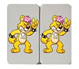 Search : Rock & Roll - Yellow Punk Rock Bear w/ Pink Hair - Taiga Hinge Wallet Clutch