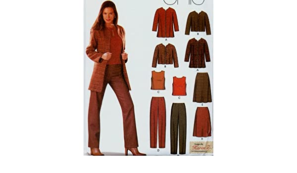 Amazon.com: Misses Jacket Pants Skirt Blouse Wardrobe ...