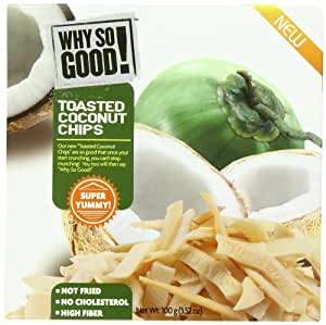 Why So Good Toasted Coconut Chips, 3.52 Ounce (Pack of 5)