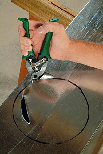 MIDWEST Aviation Snip - Right Cut Upright Tin Cutting Shears with Forged Blade & KUSH'N-POWER Comfort Grips - MWT-6900R by Midwest Tool & Cutlery (Image #2)