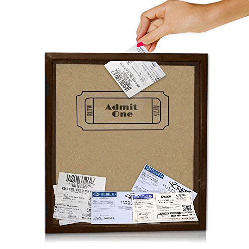 Simply Things Shadow Box with Slot 11 x 12 x 2.5. This top Loading Ticket Box is Great for displaying Precious Mementos. Display Memories from Concerts, Movies, or Even Corks. (tan with Logo)