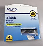 Equate 3 Blade Cartridges For Women 4 Cartridges