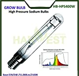 HPS Grow Light 400 Watt, 50000 Lumens 2100K High Pressure Sodium Grow Lamp Bulbs HPS for Indoor Plant Flowering Growth