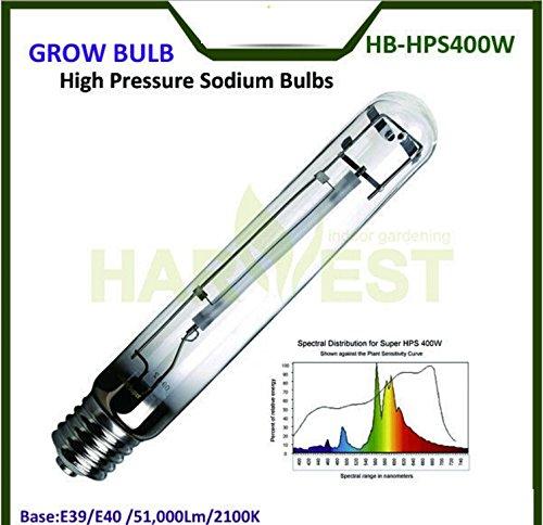 Cheap HPS Grow Light 400 Watt, 50000 Lumens 2100K High Pressure Sodium Grow Lamp Bulbs HPS for Indoor Plant Flowering Growth