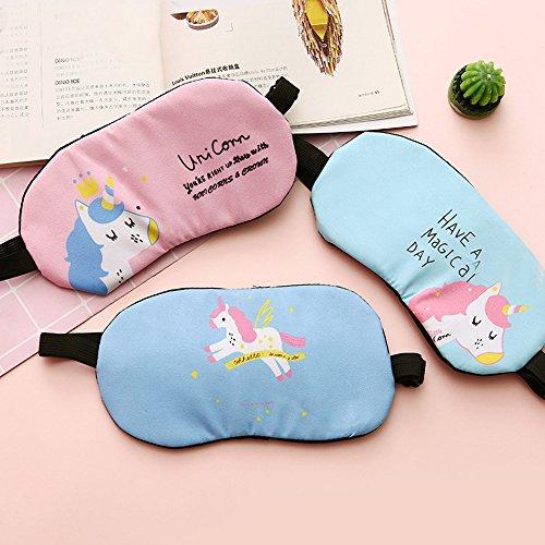 Fashion Unicorn Flamingos 4Pcs Sleep Mask Cover Lightweight Blindfold Soft Eye Mask for Men Women Kids by Yosbabe (Image #2)