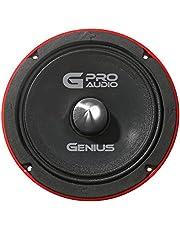 """Genius GPRO-M0265 6.5"""" 300 Watts-Max Midrange Car Audio Speaker 4-Ohms Aluminum Basket"""