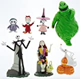 Disney Parks Exclusive Jack Skellington Nightmare Before Christmas 7 Pc. Figurine Playset