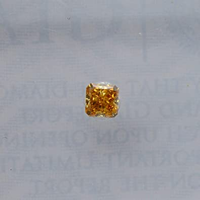 f1e6a0d447 Image Unavailable. Image not available for. Color: 0.09Cts Fancy Deep  Yellow Orange Loose Diamond Natural ...