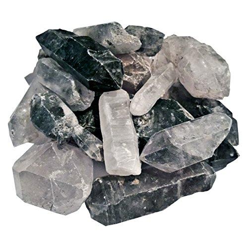 Hypnotic Gems 453g 1 lb Lot Rare Tibetan Quartz Points, Wands and Specimens - Large: 1