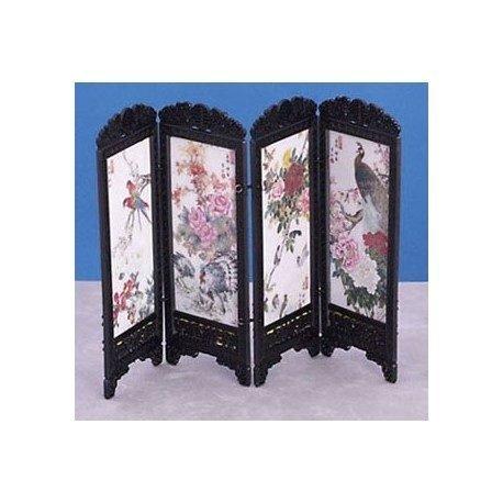 Dollhouse Screen (Dollhouse Miniature Chinese Screen, Birds)