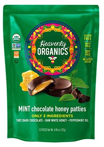 Heavenly Organics MINT Chocolate Honey Pattie, 4.66 oz, Pack of 6