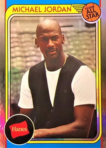 2019 Hanes MICHAEL JORDAN Basketball Card - Rare SILVER Foil Parallel All Star HA-10