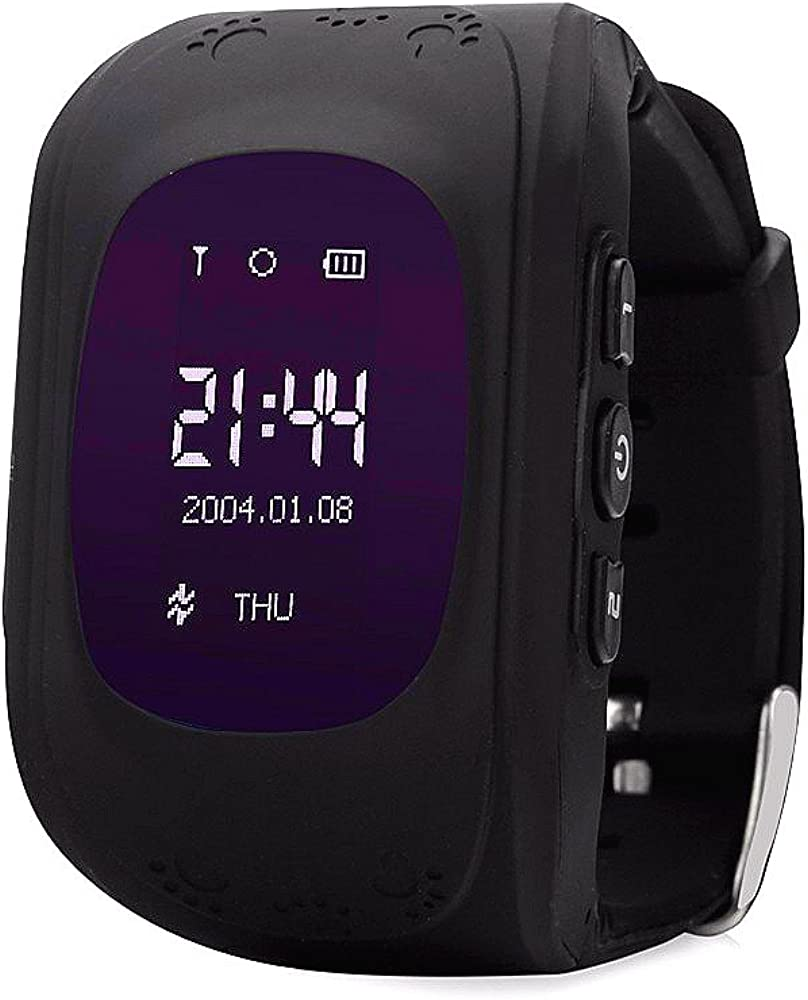 Reloj Inteligente para niños con rastreador GPS, teléfono SIM, antipérdida, Pulsera SOS, Control para iOS y Android Smartphone Q50 LBS Kids Reloj de Pulsera