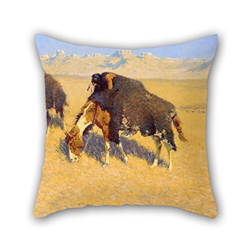 [Oil Painting Frederic Remington - Indians Simulating Buffalo Pillowcase 16 X 16 Inches / 40 By 40 Cm Gift Or Decor For Kitchen,teens,her,teens Boys,play Room,bedroom - Twin] (Oriole Bird Costume)