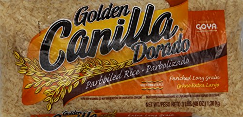 Goya Golden Canilla Parboiled Long Grain Rice, 3 Pound (Pack of 20) ()