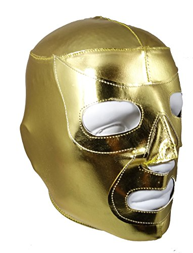 GOLD RAMSES Lycra PRO Adult Lucha Libre Wrestling Mask (Nacho Libre Ramses Costume)