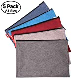 ADVcer 5 Pack Canvas Zipper Tool Bag Set, 13.3'' x 9.4'' 14oz Heavy Duty Waterproof Multipurpose Utility Multi Tool Storage Pouch Case for Organizing and Sorting Household Tools, Spare Parts (5 Colors)