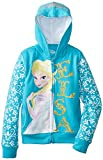 Disney Girls' Frozen Elsa Turquoise Hoodie, Turquoise, 5/6