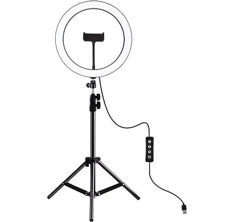 Live Stream, Fotografia Fotografia Makeup PARIO Aro de Luz con Tripode LED Anillo de Luz Ring Light para Tiktok Maquillaje Smartphone Vlog