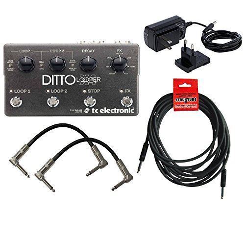 tc-electronic-ditto-x4-looper-two-patch-cables-one-instrument-cable-960805005