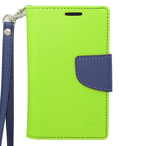 Insten Universal Wallet Pouch 4.0'' PU Leather Case for Samsung Galaxy Ace/ZTE Quest, Green/Blue