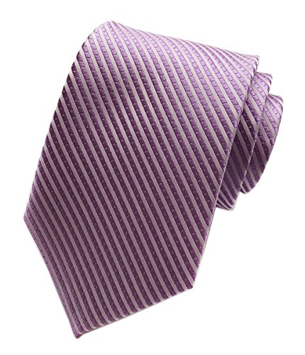 Elfeves Men's Grape Purple Party Woven Ties Elegant Banquet formal Prom Neckties