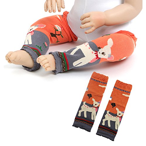 (Baby Leg Warmers Children Knee Pad Kids Stocking Sock Leggings Arm Leg Warm for Crawling 0-5 Y (Deer))